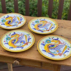 Italian Salad Plate from Deruta Italy Raffaellesco
